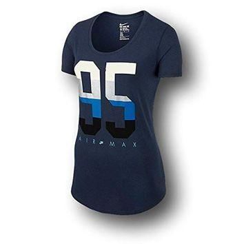 Nike Women's Air Max 95 T-Shirt (Medium, Blue)