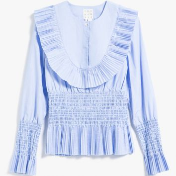 TRADEMARK / Smocked Bib Shirt