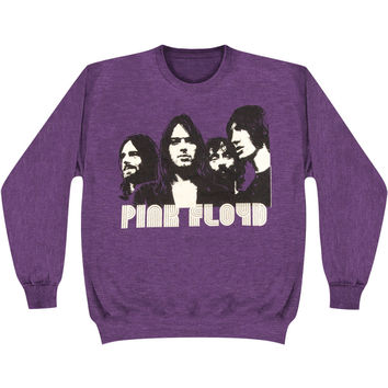Pink Floyd Men's  Retro Sweatshirt Purple Rockabilia