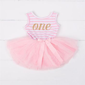 Summer Baby Girl Brand Dress for Age 10 12 18 24 Months Little Girl Kids Party Costume Newborn Baby Girl First Birthday Outfits