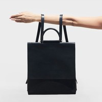 Minimal Structuralism Leather Fold Backpack