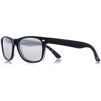 River Island Boys black retro mirror lens sunglasses
