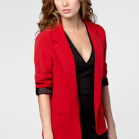 Red Hot Boyfriend Blazer | Shop Necessary Objects Blazers | fredflare.com