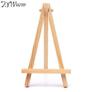 KiWarm Portable 5PCS Mini Artist Wooden Easel Wood Wedding Table Card Stand Display Holder For Party Home Decor Supply 9*16cm