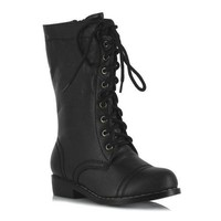 "1"" Ankle Combat Boot. Children"