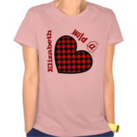 Wild at Heart with Custom Name V007 T-shirt