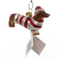 Holiday Ornaments Glass Dachshund Noble Gem Glass Ornament