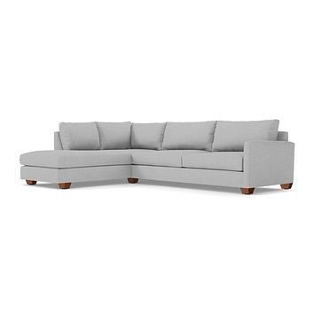 Tuxedo 2pc Sectional Sofa LAF in SILVER