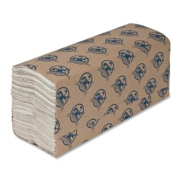 "Genuine Joe C-Fold Towels,1-Ply,13-13-64""X10-7-64"",240 Towels,10-CT,WE - CASE OF 1"