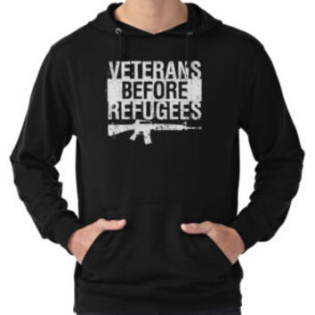 Veterans Before Refugees Grunge T Shirt by funnygifts