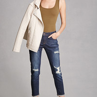 Distressed Low-Rise Jeans