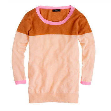 Collection featherweight cashmere sweater in colorblock