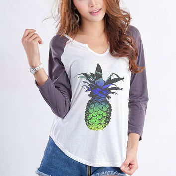 Pineapple T Shirt Cute Teen Shirts Funny Birthday Cool Gifts Fashion Tops Dope Shirt