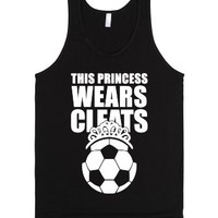 This Princess Wears Cleats (Soccer)-Unisex Black Tank