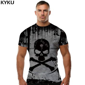 Men Punk Rock 3d T-shirt Hip Hop Casual