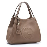GUCCI hot seller of women's casual shoulder bag and fashionable double G shopping bag #6