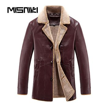 Autumn Winter Leather Jacket Men Casual Slim Fit Male Leather Jackets Coats