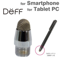 Deff Dual Carbon Type Wooden Touch Pen with Ballpoint Pen (For Replacement Nib Black)