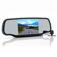 "Car Rear View Mirror with Dashcam and Wireless Parking Camera ""Carmax"" - 5 Inch Screen, Speed Radar Detector, GPS, Bluetooth"