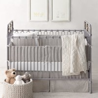 Garment-Dyed Ticking Stripe Nursery Bedding Collection