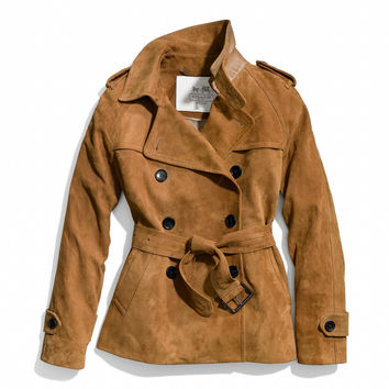 SUEDE SHORT TRENCH