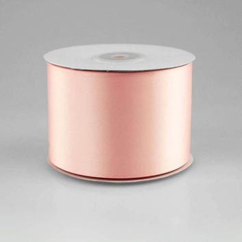 Double Faced Satin Ribbon, 2-1/2-inch, 25-yard, Light Pink