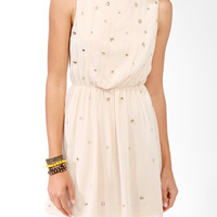 Bejeweled Blouson Dress