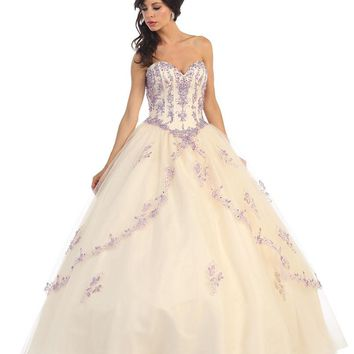 Quinceanera Long Formal Prom Dress