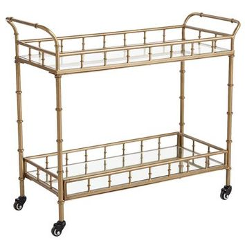 Lucette Bar Cart - Gold