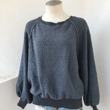 ALAYNA COZY SWEATER- BLUE