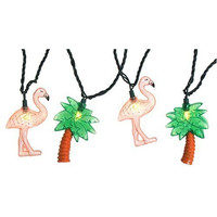 Flamingos and Palm Trees Party String Lights, 8-Feet