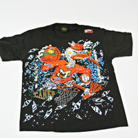 vintage MIAMI HURRICANES cartoon print t-shirt size L
