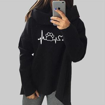 Dog Cat Cartoon Sweatshirts - Women's Hoodie Sweatshirt