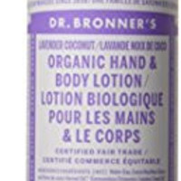 Dr. Bronner's & All-One Organic Lotion for Hands & Body, Lavender Coconut, 8-Ounce Pump Bottle