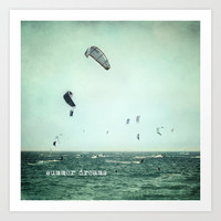 Summer dreams. Kite surf Art Print by Guido Montañés