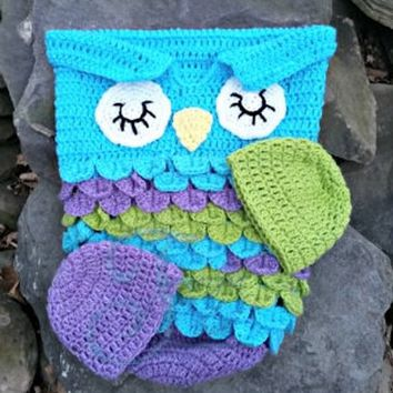 owl cocoon, baby cocoon, baby owl, baby blanket, baby shower, baby hat, baby photography