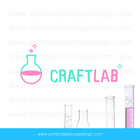 OOAK Premade Logo Design - Craft Laboratory - Perfect for a DIY blog or a handmade supplies shop