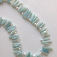 Amazonite Collar with Seed Pearls