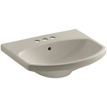 K-2363-4-G9 Cimarron 3-5/8 in. Pedestal Sink Basin in Sandbar