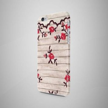Red Lace Wood iPhone 8 Case iPhone 8 Plus Case