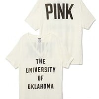 University of Oklahoma Vintage V-Neck Tee