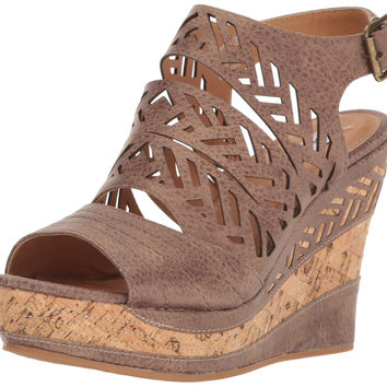 Not Rated Women's Patia Wedge Sandal Taupe 8.5 B(M) US '
