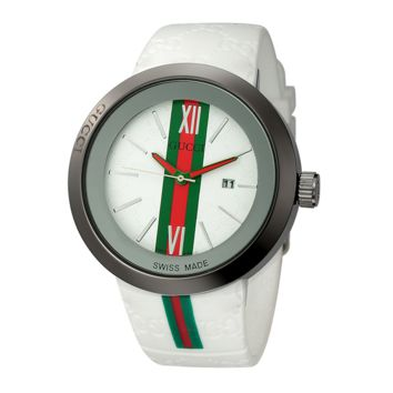 Trendy Gucci Unisex Stylish Wrist Watch In Red & Green