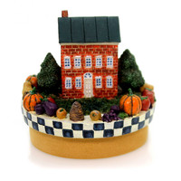 Home Decor PEACE AND PLENTY CANDLE TOPPER Thanksgiving Pumpkins  Fall 80150401
