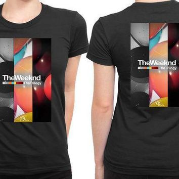 The Weeknd The Trilogy Xo 2 Sided Womens T Shirt