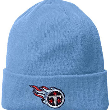 NFL End Zone Cuffed Knit Hat - K010Z, Tennessee Titans, One Size Fits All