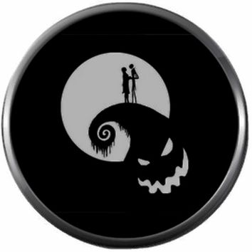 Jack And Sally On Oogie Boogie Spiral Hill Halloween Town Nightmare Before Christmas Jack Skellington 18MM - 20MM Charm for Snap Jewelry New Item