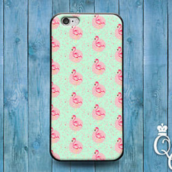 Cute Pink Flamingo Phone Cover Pretty Case iPod Touch iPhone Cool Animal Green