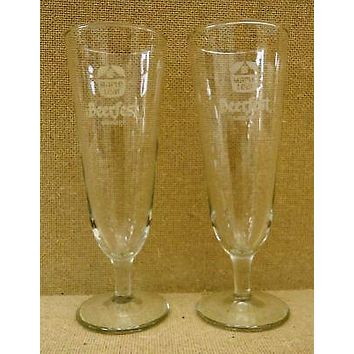 Maple Leaf Beerfest Drinking Glasses (3 in. D. x 8-1/2)