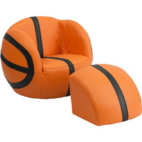 Basketball Chair w/ Foot Ottoman
